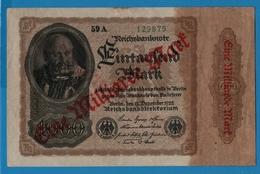 DEUTSCHES REICH 1 Milliarde Mark15.12.1922# 59A 129875  P# 113a - [ 3] 1918-1933 : Repubblica  Di Weimar