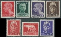 1945 LUOGOTENENZA EMISSIONE NOVARA 7 VALORI FILIGRANA RUOTA MNH ** - RC27 - Ongebruikt