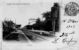 CPA - 77 - LAGNY-THORYGNY-POMPONNE - La Gare - Voyagée En 1903 - Lagny Sur Marne