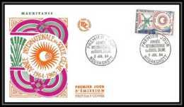 4298/ Espace Space Raumfahrt Lettre Cover Briefe Cosmos 3/7/1964 Fdc Année Internationale Du Soleil Calme Mauritanie - Lettres & Documents