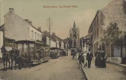 Belgique - Bon-Secours - La Grand'Rue - Attelages Chevaux Tramways - Carte Colorisée Cirée - 1910 - Péruwelz