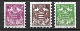 1937 - Monaco -armoiries - YT 154/156 - MNH** - Neufs