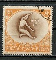 JO Melbourne 1956 Pologne - Poland - Polen Y&T N°877 - Michel N°994 (o) - 1,55z Saut En Longueur - Summer 1956: Melbourne