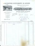 Facture Manufacture D'Instruments De Musique BLANCHON Et Cie Succ. Pélisson Guinot Cours Lafayette Lyon Janvier 1924 - 1900 – 1949