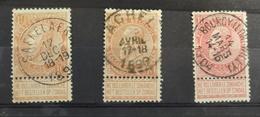 COB 57 / 58 ; Lot De 3 Belles Oblitérations Concours Saffelaere - Achel - Bourcy - 1893-1900 Thin Beard