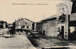 08 Saint Lambert La Rue Tirman Animation Wilmet Rethel Chocolat Meunier - Other Municipalities