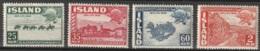 Iceland 1949 MiNr.259-262 Complete, MNH ** - Ungebraucht