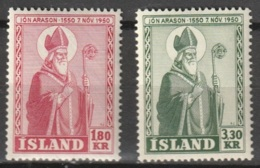 Iceland 1950 MiNr.271-272 Complete, MNH ** - Ungebraucht