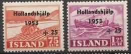 Iceland 1953 MiNr.285-286 MNH/** - Ungebraucht