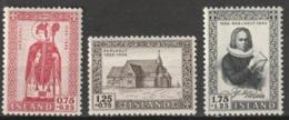 Iceland 1956 MiNr.300-302 MNH/** - Ungebraucht