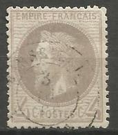 France - Napoleon III Lauré - N°27 Oblitéré - Cachet à Date MARSEILLE - 1863-1870 Napoléon III Lauré