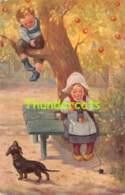 CPA ILLUSTRATEUR DESSIN ENFANT ARTIST SIGNED DRAWN CARD CHILD  ZAHL TRICOT DACHSHUND TECKEL CHIEN DOG - Zahl, H.