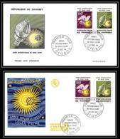 4318/ Espace Space Lettre Cover Briefe Cosmos 22/12/1964 Lot 2 FDC Année Internationale Du Soleil Calme Dahomey - Bénin – Dahomey (1960-...)