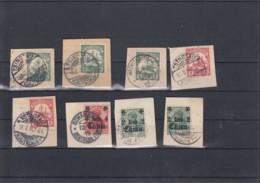 """Deutsches Reich Michel Kat.Nr. DP China Laus Briefausschnitte Stempel Dabei """"Mecklenburghaus"""" - Bureau: Chine"""