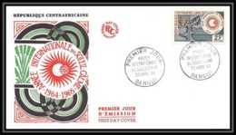 4321/ Espace (space) Lettre (cover Briefe) 20/4/1964 FDC Année Internationale Du Soleil Calme République Centrafricaine - Lettres & Documents