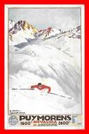 CPA PUBLICITE. Chemins De Fer P.O.Midi 1936 Puymorens-Envalira En Andorre  Illustrateur P. Champseix....K421 - Chemins De Fer