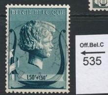 PRACHTSTEMPEL  Op Nr 535 'BXL' - Oblitérés