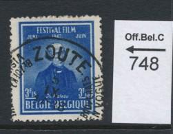 PRACHTSTEMPEL  Op Nr 748 'Zoute' - België