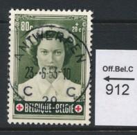 PRACHTSTEMPEL  Op Nr  912 'Antwerpen' - Belgique