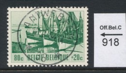 PRACHTSTEMPEL  Op Nr  918 'Antwerpen' - Belgique