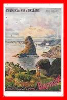 CPA PUBLICITE. Chemins De Fer D'Orléans. Bretagne. Belle Isle-en-Mer, Pointe Des Poulains....K423 - Chemins De Fer