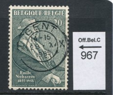 PRACHTSTEMPEL  Op Nr 967 'Gent' - Belgique