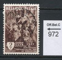 PRACHTSTEMPEL  Op Nr 972 'Gent' - Belgique