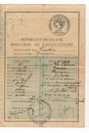 B2  1932 Permis De Chasse Département Du Finistere Arrondissement De Quimper - Fiscaux