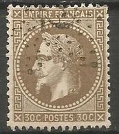 """France - Napoleon III Lauré - N°30 Oblitéré - """"Etoile De Paris"""" Bureau N°22 - Rue Du Helder - 1863-1870 Napoleon III With Laurels"""