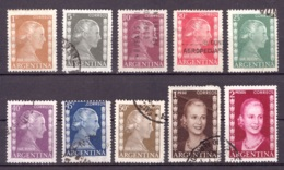 Argentine 1952 - Oblitéré - Evita Perón - Michel Nr. 591-599 601 (arg091) - Argentina
