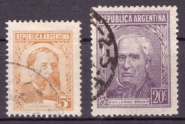 Argentine 1956-1959 - Oblitéré - Célébrités - Michel Nr. 647-648 Série Complète (arg098) - Argentina