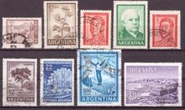 Argentine 1961-1969 - Oblitéré - Célébrités - Mammifères - Paysages - Michel Nr. 763-771 Série Complète (arg111) - Argentina