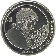 Ukraine,Yakiv Hnizdovskyi, 2015, 2 Gr  Grivny, Proof - Ucrania