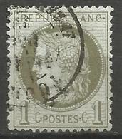 France - Cérès - N°50 Oblitéré - Cachet à Date TOURS (Indre Et Loire) - 1871-1875 Ceres