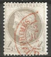 France - Cérès - N°52 Oblitéré - Cachet à Date Rouge Des Imprimés - 1871-1875 Cérès