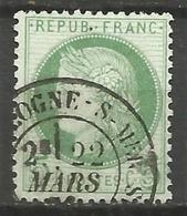 France - Cérès - N°53 Oblitéré - Cachet à Date BOULOGNE-SUR-MER (Pas-de-Calais) - 1871-1875 Cérès