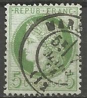 France - Cérès - N°53 Oblitéré - Cachet à Date MARSEILLE (Bouches-du-Rhône) - 1871-1875 Cérès