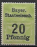 BAVIERE   -   Timbre Fiscal De 20 Pfennig, Neuf *. - Bavaria