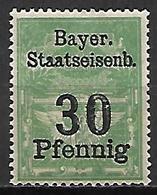 BAVIERE   -   Timbre Fiscal De 30 Pfennig, Neuf *. - Bavaria