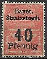 BAVIERE   -   Timbre Fiscal De 40 Pfennig, Neuf *. - Bavaria