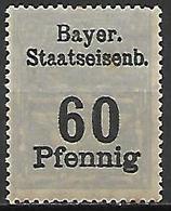 BAVIERE   -   Timbre Fiscal De 60 Pfennig, Neuf *. - Bavaria