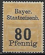 BAVIERE   -   Timbre Fiscal De 80 Pfennig, Neuf *. - Bavaria