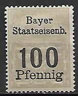 BAVIERE   -   Timbre Fiscal De 100 Pfennig, Neuf *. - Bavaria