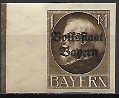 BAVIERE   -   1919 .  Y&T N° 130B *. - Bavaria