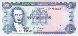 JAMAICA - 10 $ 1.8.1992 UNC P-71d /BN32 - Giamaica