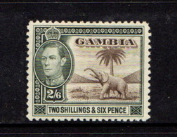 GAMBIA    1938    2/6  Brown  And  Green    MH - Gambia (...-1964)