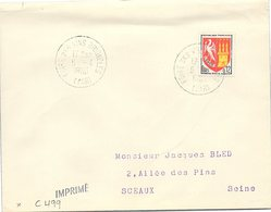 VINS CHAMPAGNE - CACHET FOIRE DES VINS BRIGNOLLES VAR 5.4.1965 / 1 - Marcofilia (sobres)