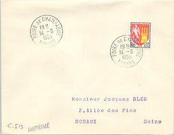 VINS CHAMPAGNE - CACHET FOIRE DE CHAMPAGNE 14.6.1965 TROYES  / 1 - Marcofilia (sobres)