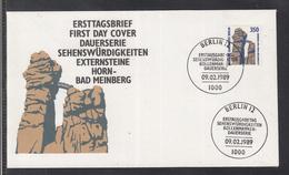 AUS 99 ) Free Shipping To // Berlin 1989 FDC -  Freimarke Sehenswürdigkeiten:  Externsteine Horn-Bad Meinberg - Minerals