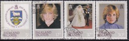 FALKLAND ISLANDS 1982 SG #426-29 Compl.set Used 21st Birthday Of Princess Of Wales - Falkland Islands